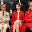 Stock Photo: Valentino Garavani with Anne Hathaway and Nancy Krasne