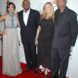 Постер, плакат: Keisha Whitaker with Forest Whitaker and Morgan Freeman at the Launch of Mandela Day Beverly Hills Hotel Beverly Hills CA 05 14 09