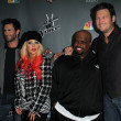 Adam Levine, Christina Aguilera, Blake Shelton  at The Voice Season 3 Red Carpet, House of Blues, West Hollywood, CA 11-08-12 - Lizenzfreies Foto