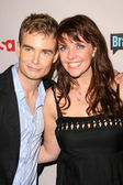 Robin Dunne and Amanda Tapping — 图库照片
