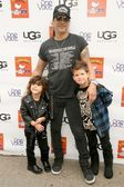 Slash and his sons — Stock Photo