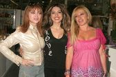 Judy Tenuta with Leyla Milani and Gloria Kisel — Stock Photo