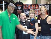 Tony Todd and David Forline with Rena Riffel and Jake Grace — Stock Photo