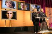 凯茜贝茨和西德尼 · 盖尼斯在 80 年度学院奖提名公布。samuel goldwyn 剧院,学院的电影艺术和科学,贝弗利山庄,ca。 08/1/22 — 图库照片