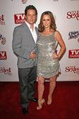 Ross McCall and Jennifer Love Hewitt — Stock Photo