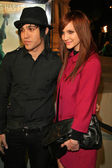 Pete Wentz and Ashlee Simpson — Stock Photo