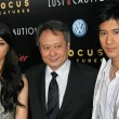 Постер, плакат: Wei Tang with Ang Lee and Lee Hom Wang