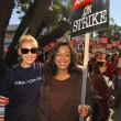 Постер, плакат: Katherine Heigl and Shonda Rhimes at the Writers Guild of America Picket Line in front of Paramount Studios Hollywood CA 12 12 07