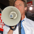 John Edwards at the Writers Guild of America Picket Line in front of NBC Studios. Burbank, CA. 11-16-07 - Zdjcie stockowe