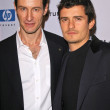 Sebastian Copeland and Orlando Bloom — Stock Photo