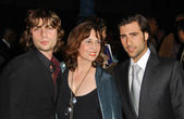 Robert Schwartzman with Talia Shire and Jason Schwartzman — Stock Photo