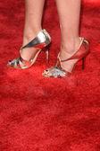 Anita Briem shoes — Stock Photo