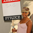 Kimberly Elise at the Writers Guild of America Picket Line in front of Paramount Studios. Hollywood, CA. 12-12-07 - ストック写真