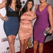 Khloe Kardashian with Kourtney Kardashian and Kris Jenner - Stock Photo