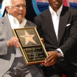 Johnny Grant and Jamie Foxxat the ceremony honoring Jamie Foxx with the 2,347th star on the Hollywood Walk of Fame. Hollywood Boulevard, Hollywood CA. 09-14-07 - Zdjcie stockowe