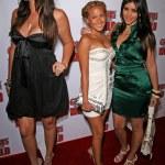 Постер, плакат: Khloe Kardashian with Adrienne Bailon and Kimberly Kardashian
