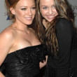 Hilary Duff and Miley Cyrus at the 2007 Spirit Of Life Awards Dinner hosted by Hilary Duff. Pacific Design Center, West Hollywood, CA. 09-27-07 - Zdjcie stockowe
