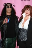 Slash and wife Perla — Stock Photo
