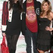 Stock Photo: Khloe Kardashiwith Robert KardashiJr. and Adrienne Bailon at Ed Hardy Holiday Party. Ed Hardy Store, Hollywood, CA. 12-14-07