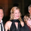 Постер, плакат: Kevin Bacon and Alison Eastwood with Miles Heizer and Clint Eastwood at the Los Angeles premiere of Rails And Ties Steven J Ross Theatre Burbank CA 10 23 07