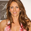Постер, плакат: Elizabeth Hurley at an in store appearance promoting Cancer Vixen to raise awareness for breast cancer and benefit the Cancer Research Foundation Saks Fifth Avenue Beverly Hills CA 10 05 07