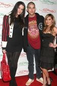 Khloe Kardashian with Robert Kardashian Jr. and Adrienne Bailon at the Ed Hardy Holiday Party. Ed Hardy Store, Hollywood, CA. 12-14-07 — Stock Photo