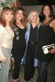 Judy Tenuta and Leyla Milani with Karen Ballou and Christine Devine — Stock Photo
