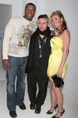 Roger Cross with Carlos Ramirez and Jacquie Blaze — Stock Photo