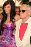 Jayde Nicole and Hugh M. Hefner — Стоковое фото