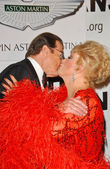 Roger Moore and Ruta Lee — Stock Photo