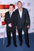 Richard Kelly and Dwayne Johnson — Foto Stock