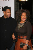 Denzel Washington and Oprah Winfrey — Stock Photo