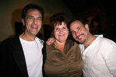 Robin Thomas with Helenee Cruz and Malcolm Danare — Stock Photo