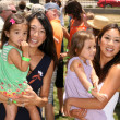 Karen Kwan and daughter Olivia with Michelle Kwan — Stock Photo