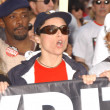 Julia Louis-Dreyfus at a Writers Guild of America protest on Hollywood Boulevard. Hollywood, CA. 11-20-07 - Stok fotoğraf