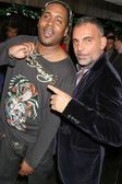 Keeta and Christian Audigier at the Ed Hardy Holiday Party. Ed Hardy Store, Hollywood, CA. 12-14-07 — Stock Photo