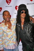Tommy Davidson and Slash — Stock Photo