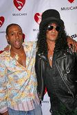 Tommy Davidson and Slash — Stock Photo