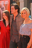 Jim Carrey and daughter Jane with Jenny McCarthy — Stock Photo