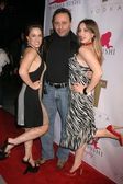 Christina DeRosa with friend and Ariana Moini — Stock Photo
