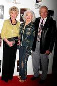 Karen Sharp Kramer with Lois Aldrin and Buzz Aldrin — Stock Photo