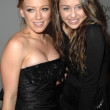 Hilary Duff and Miley Cyrus at the 2007 Spirit Of Life Awards Dinner hosted by Hilary Duff. Pacific Design Center, West Hollywood, CA. 09-27-07 - Foto Stock