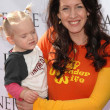 Joely Fisher and daughter True at the Kinerase Skincare Celebration On The Pier hosted by Courteney Cox to benefit the EV Medical Research Foundation. Santa Monica Pier, Santa Monica, CA. 09-29-07 - Stock Photo