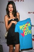 Caroline D'Amore at the Rock The Vote By Society Launch Party hosted by Christina Aguilera. Kitson, West Hollywood, CA. 11-13-07 — Stock Photo