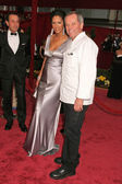 Wolfgang Puck and wife Gelila — Stock Photo