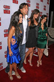 Joe Francis with sistres Kardashian — Stock Photo