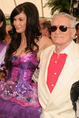 Jayde Nicole and Hugh M. Hefner — Stockfoto