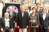 Johnny Grant with Mel Brooks and Alan Ladd Jr.at the award ceremony honoring Alan Ladd Jr. with a star on the Hollywood Walk of Fame. Hollywood Blvd., Hollywood, CA. 09-28-07 — Stock Photo