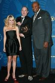 Kristin Chenoweth with Barry Sonnenfeld and Chi McBride — Stock Photo