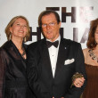 Serena Scott Thomas and Maud Adams with Roger Moore and Lois Chiles — Stock Photo #15991561